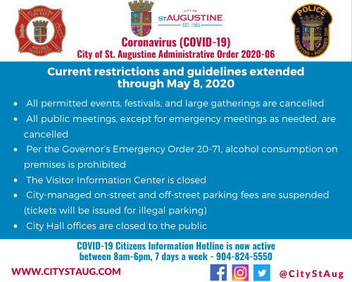 Graphic image with information about All permitted events, festivals, and large gatherings are cance