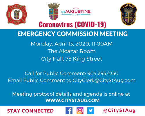 Monday, April 13, 2020, 11:00AM The Alcazar Room City Hall, 75 King Street  Call for Public Comment:
