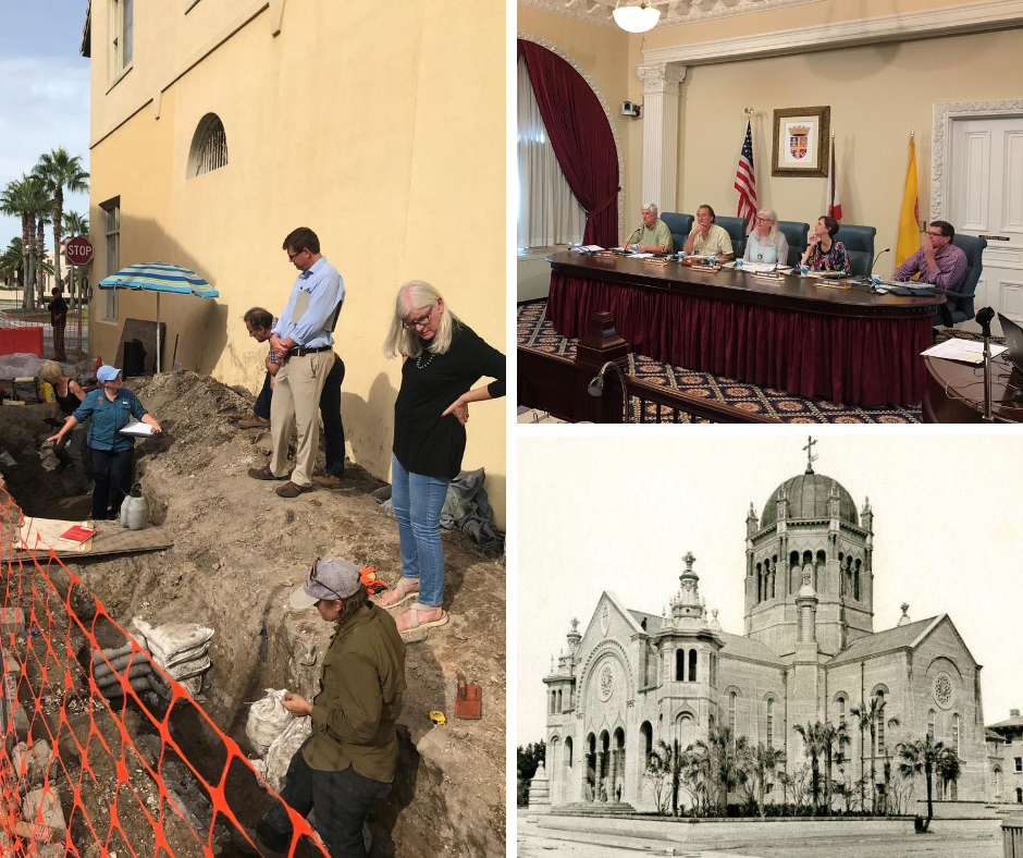HARB at archaeological dig and in meeting; St. Augustine Memorial Presbyterian Church