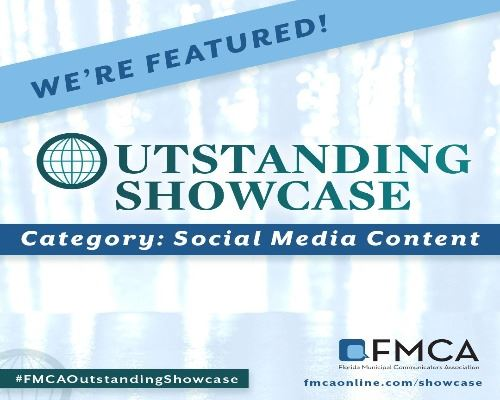 we're featured florida municipal communicators association outstanding showcase social media cate