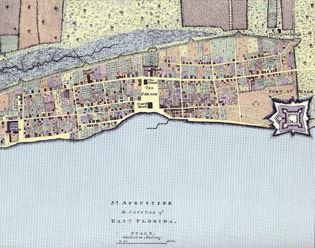 1769 Thomas Jeffreys Map of Colonial St. Augustine