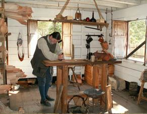 A Re-Enactor in the Leather Shop at the Colonial Spanish Quarter