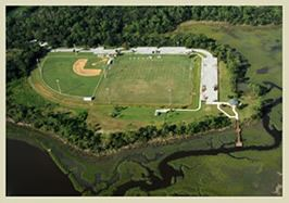 Baseball Fields at Joe Pomar Park Aeriel View