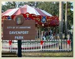 City of St. Augustine Davenport Park Sign