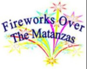 image is a graphic of the logo for Fireworks Over the Matanzas