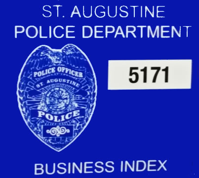 St. Augustine Police Department Business Index