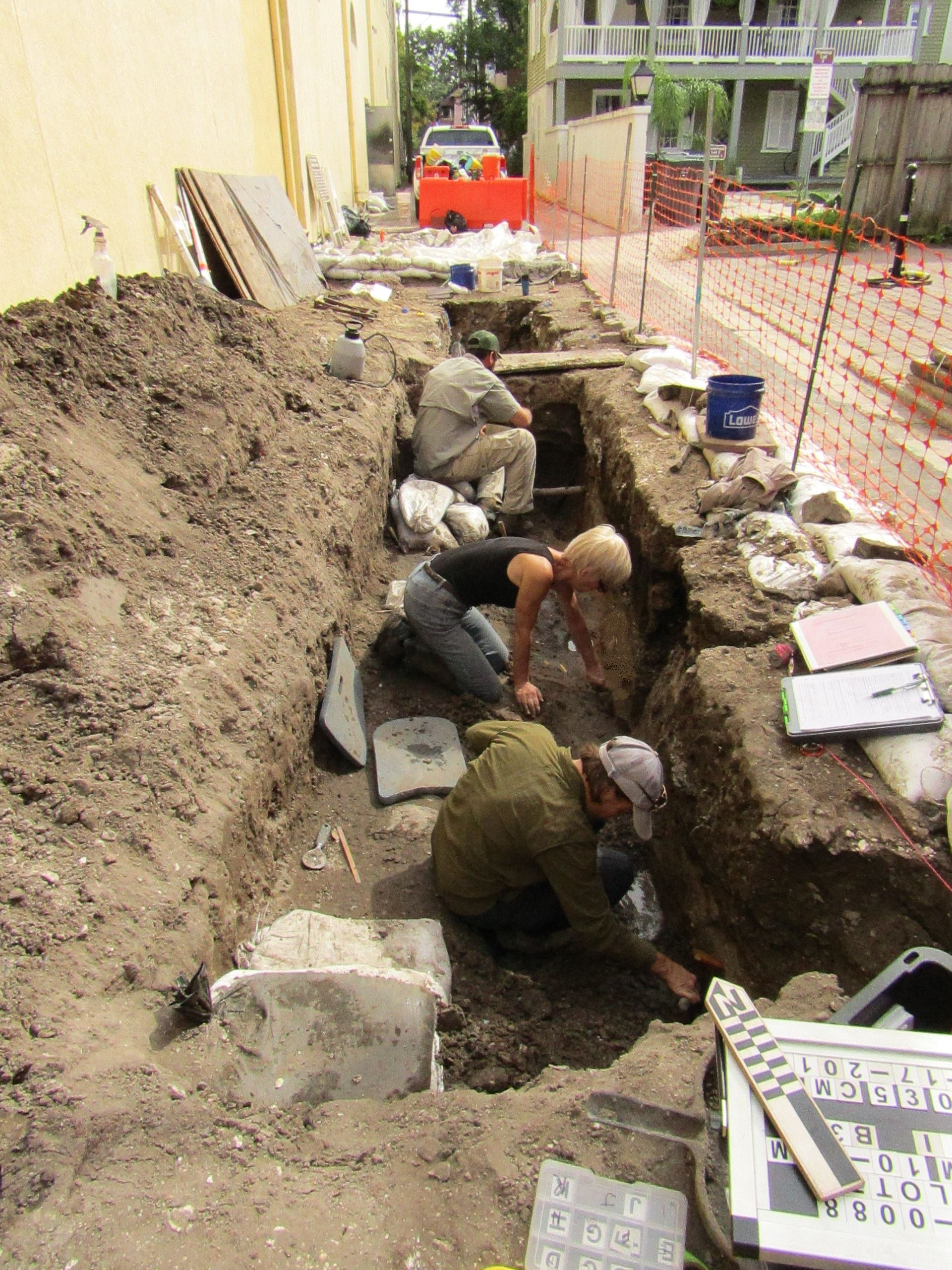 Archaeologists working on Charlotte Street