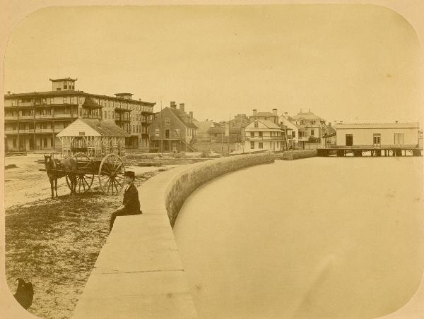 St. Augustine Marina facing toward the Plaza de la Constitucion in 1880