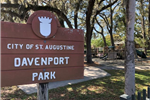 Davenport Park Welcome Sign